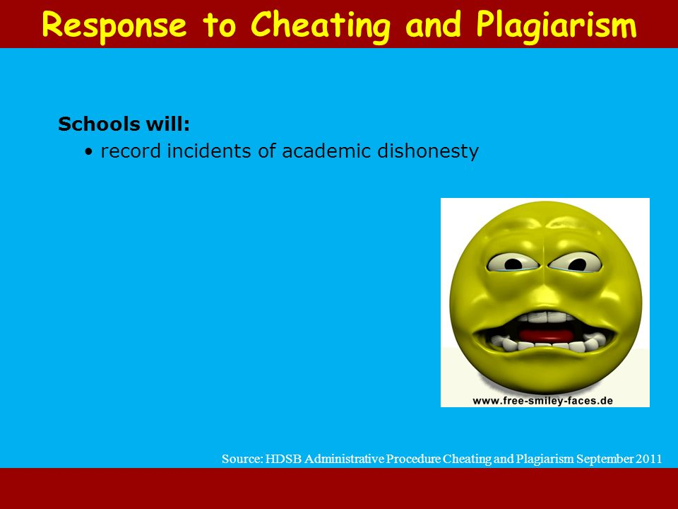 Response to Cheating and Plagiarism