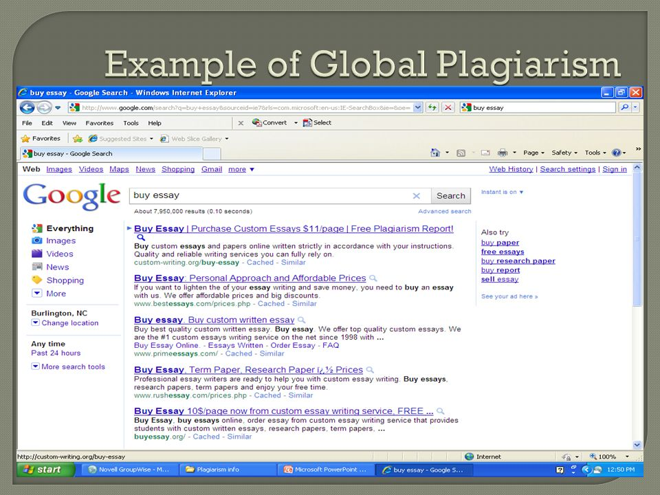 Example of Global Plagiarism