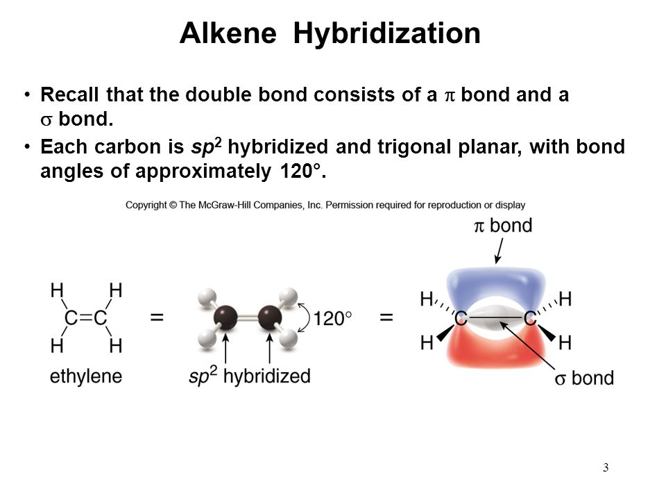 Alkene Hybridization Recall That The Double Bond Consists Of A And