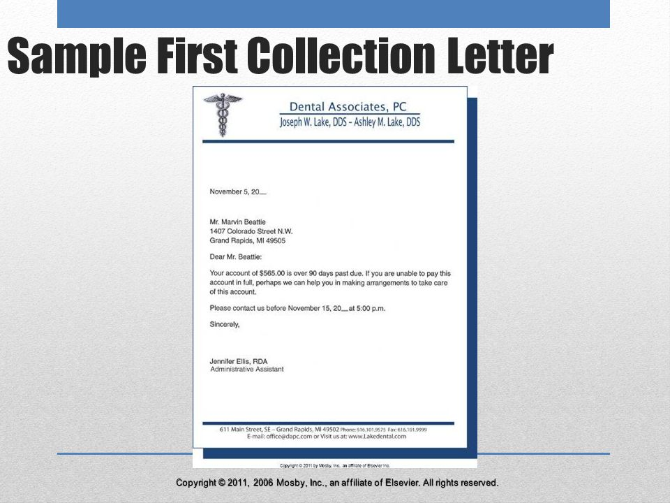 37 Sample First Collection Letter