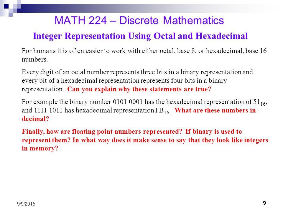 MATH 224 – Discrete Mathematics - ppt video online download