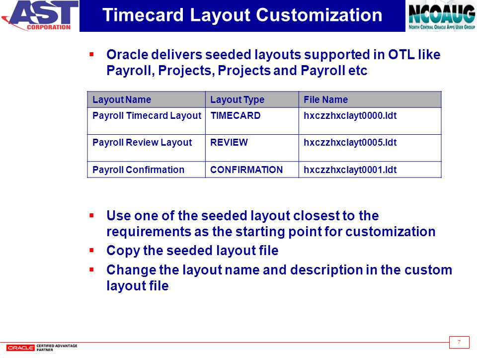 timecard layout customization - Online Time Card