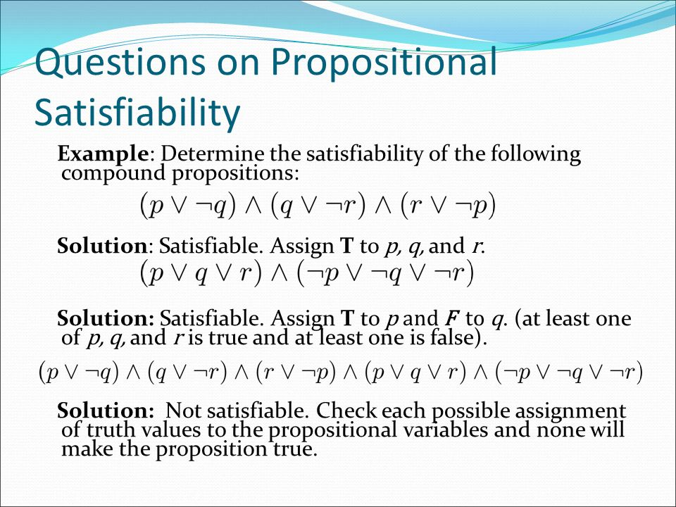 Questions on Propositional Satisfiability