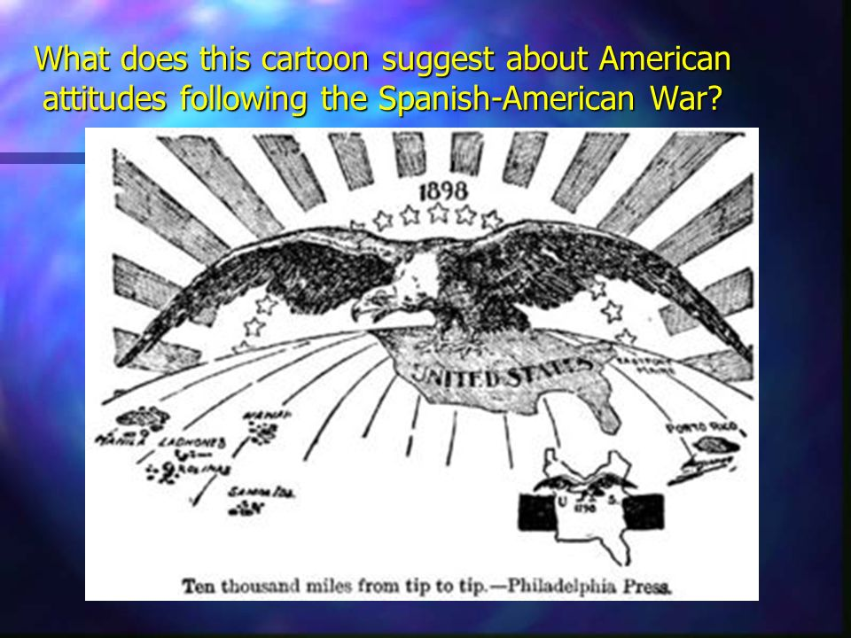 What does this cartoon suggest about American attitudes following the Spanish-American War