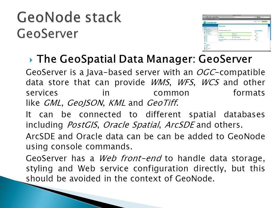 GeoNode Installation and Configuration - ppt video online