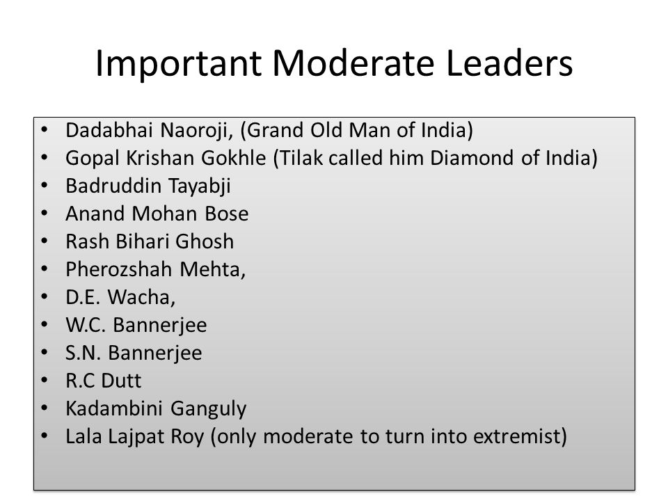 extremists and moderates in the indian national congress
