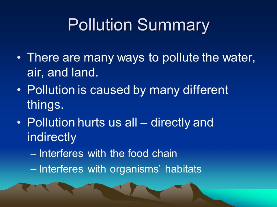 air water land pollution pictures