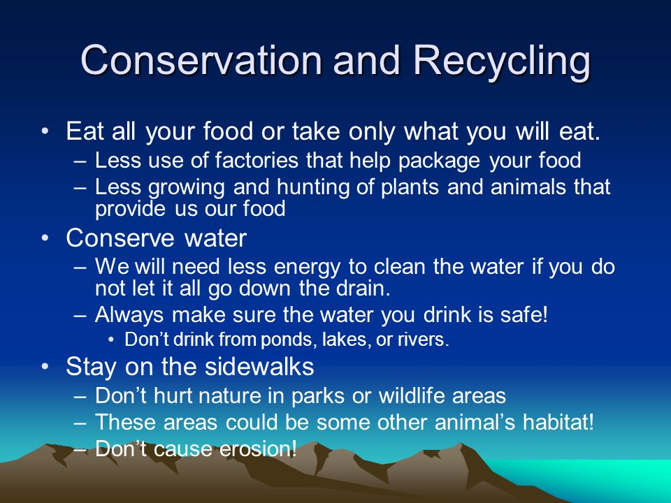 Conservation and Recycling