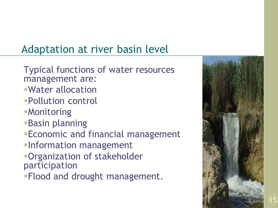 Adaptation at river basin level