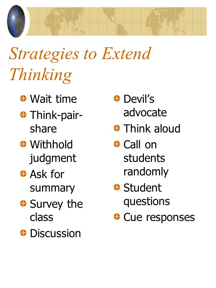 Strategies to Extend Thinking