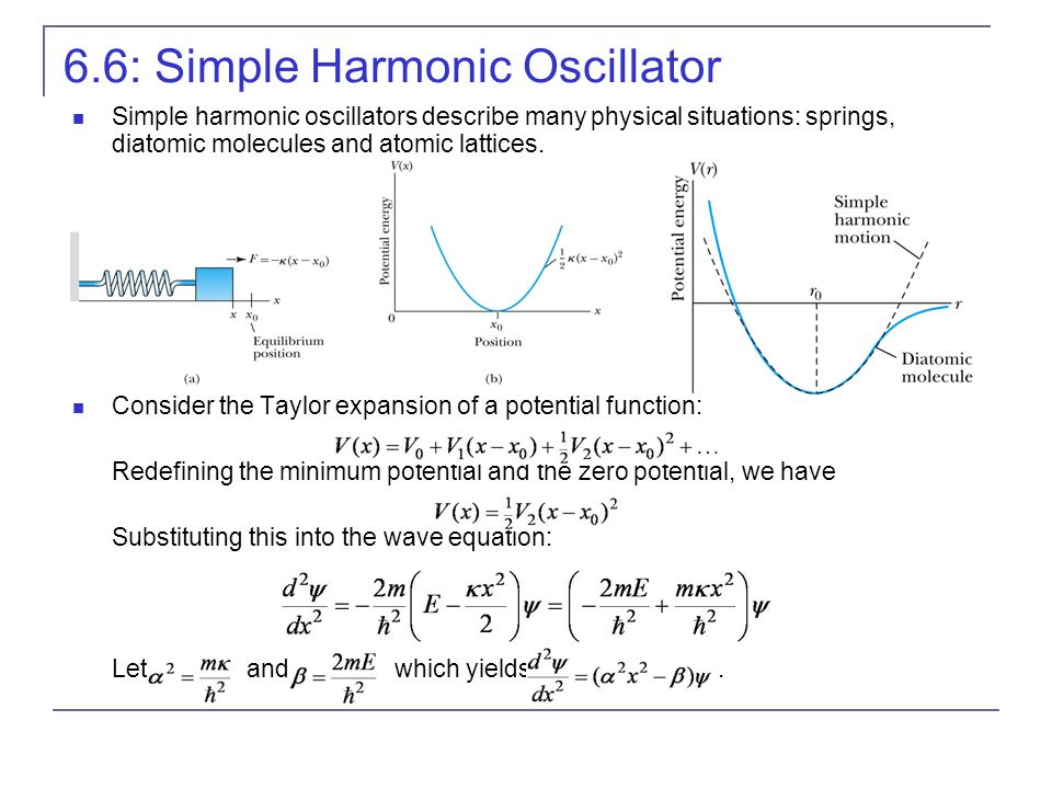 6.6: Simple Harmonic Oscillator