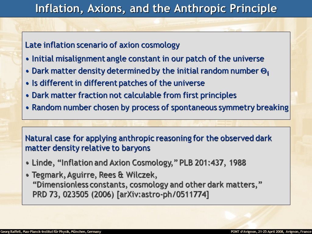 Inflation, Axions, and the Anthropic Principle