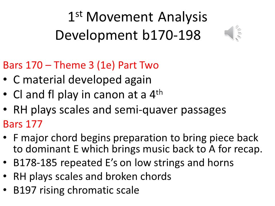 1st Movement Analysis Development b