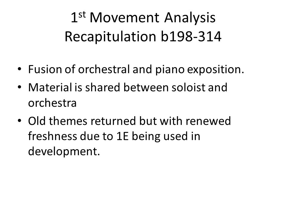 1st Movement Analysis Recapitulation b