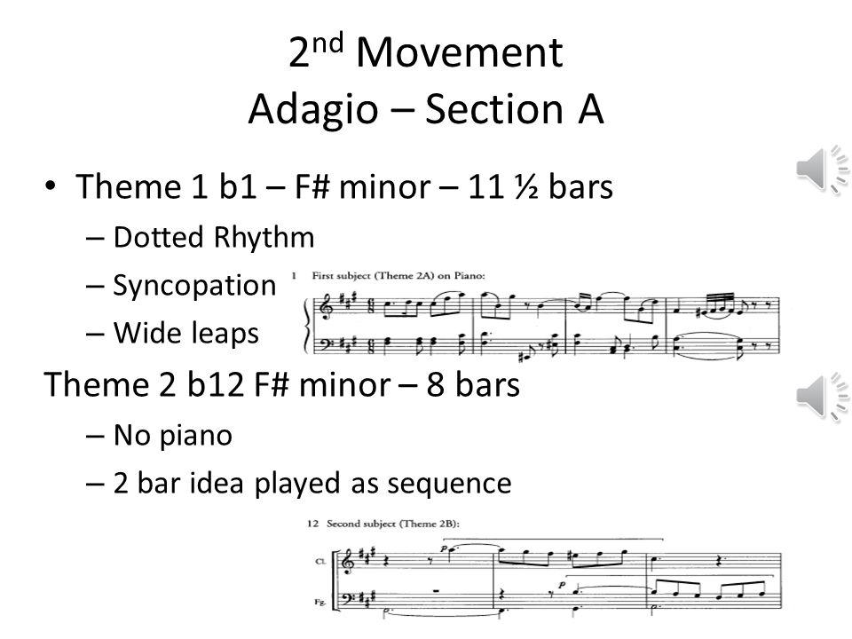 2nd Movement Adagio – Section A