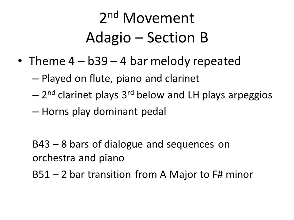 2nd Movement Adagio – Section B