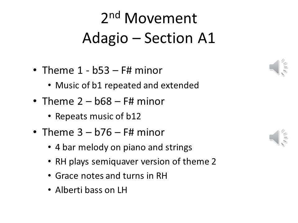2nd Movement Adagio – Section A1