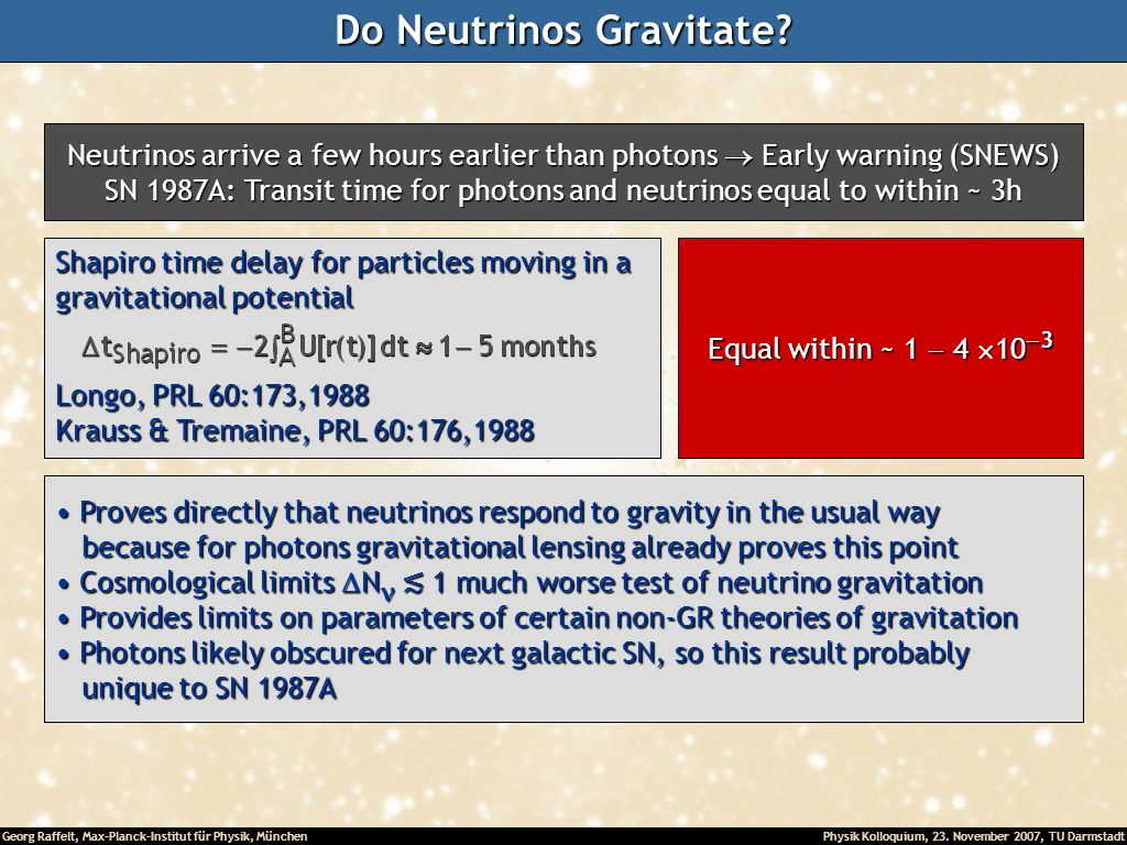 Do Neutrinos Gravitate
