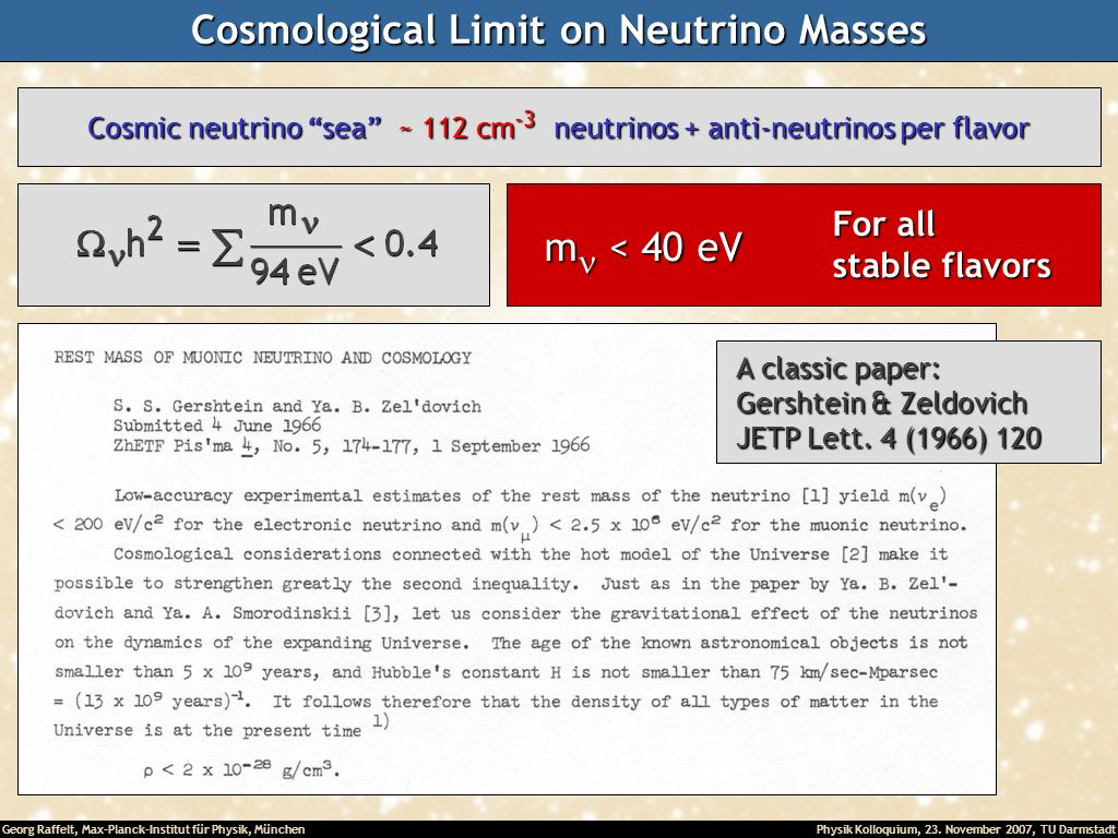 Cosmological Limit on Neutrino Masses