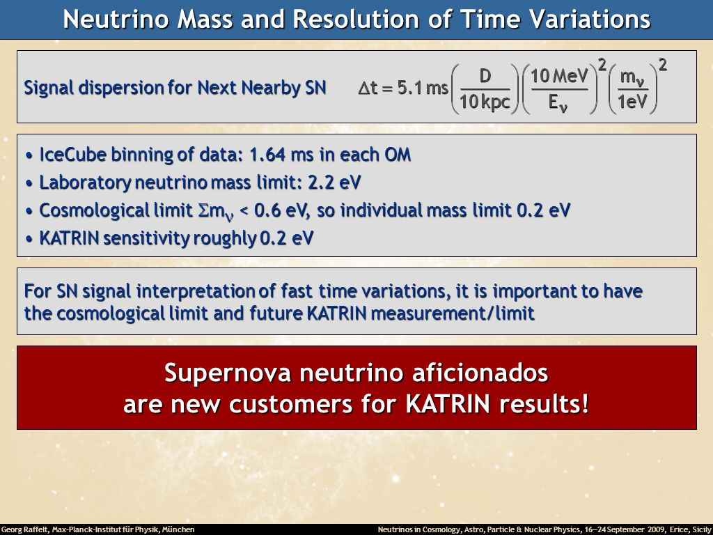 Neutrino Mass and Resolution of Time Variations