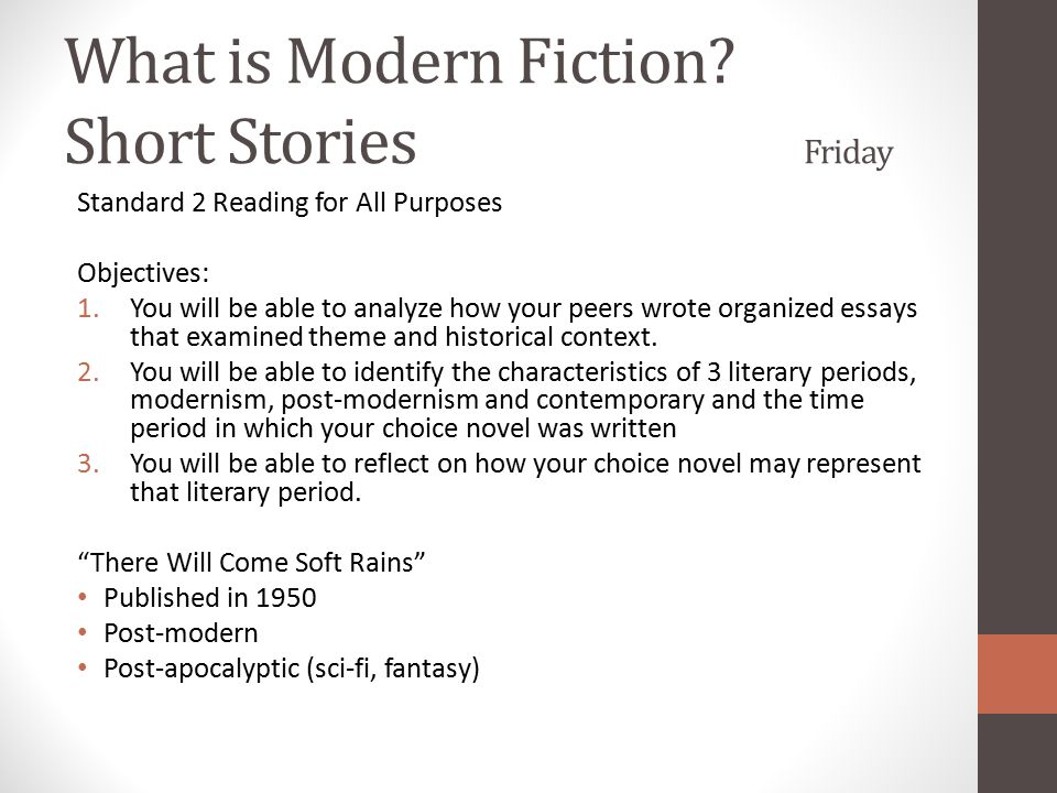 what is modern essay