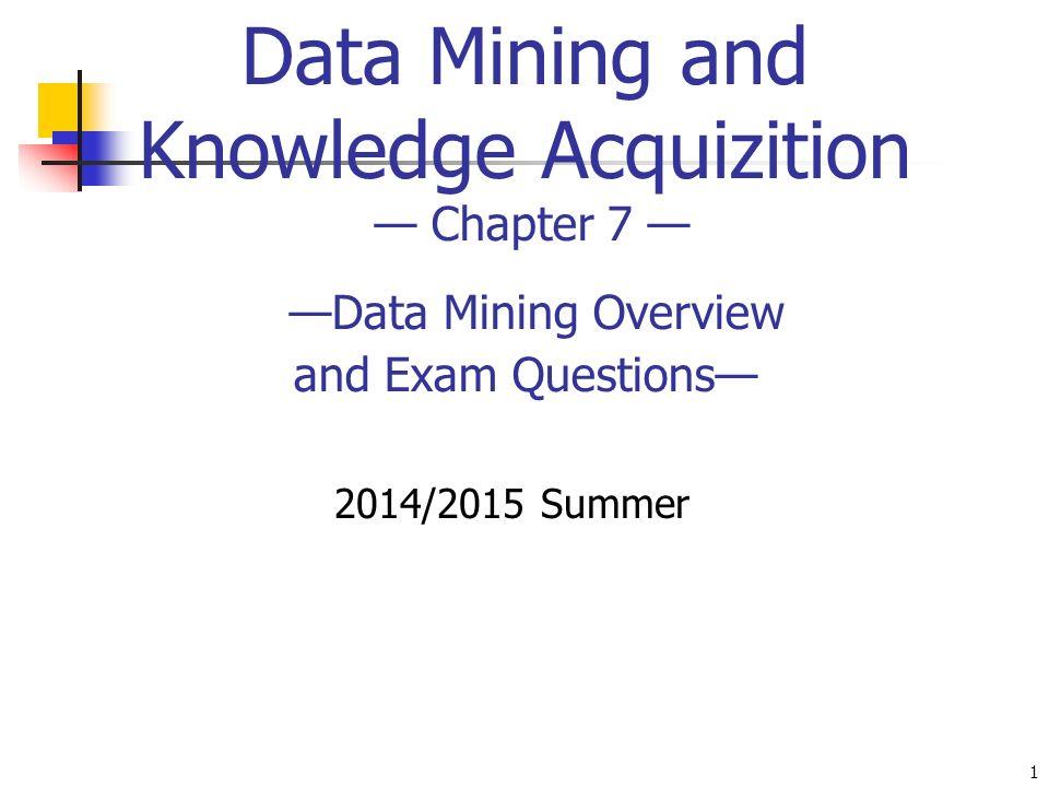 data mining exam questions