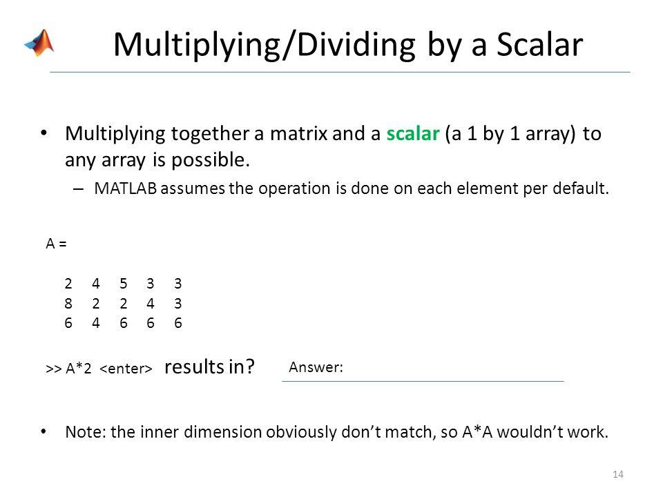 Array Math  - ppt video online download