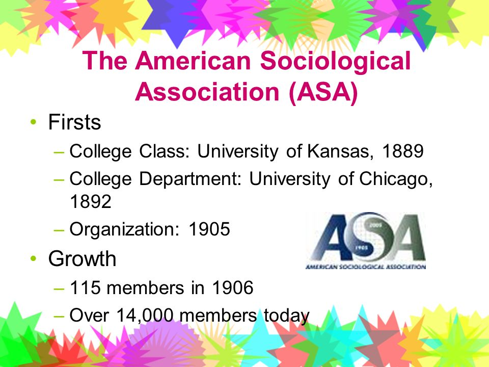 The American Sociological Association (ASA)