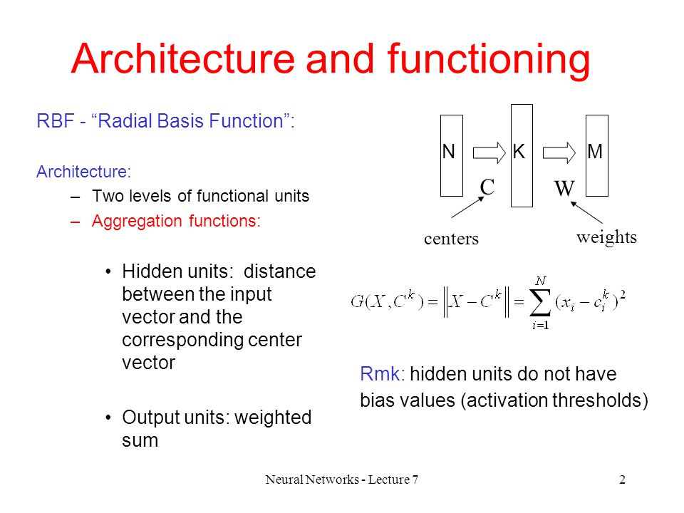 Radial basis function networks ppt download.