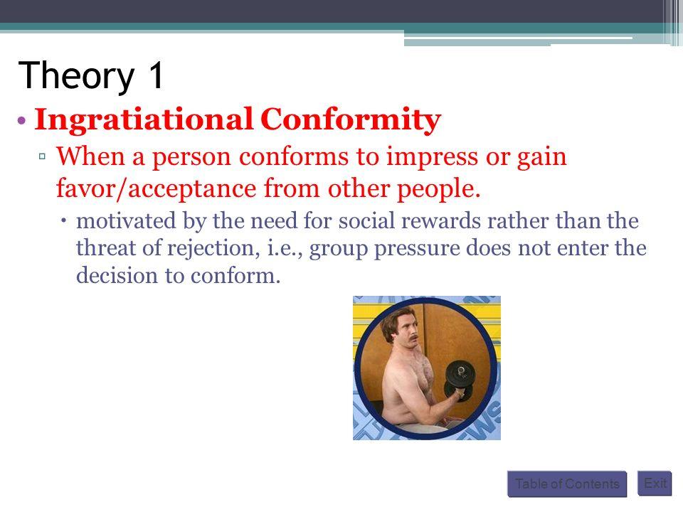 ingratiational conformity