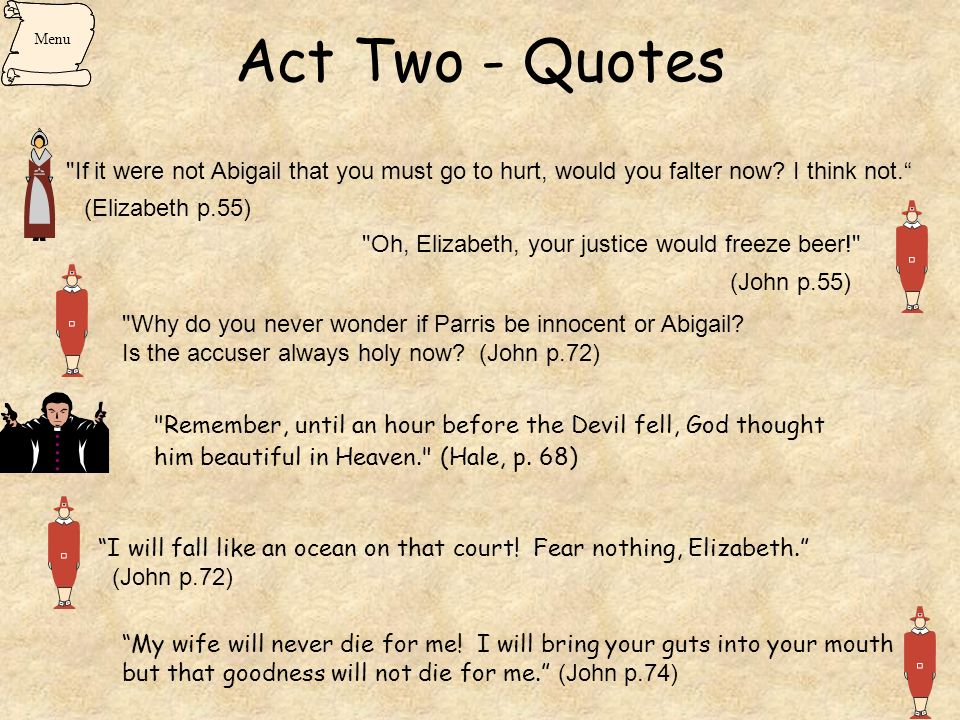 lines from the crucible