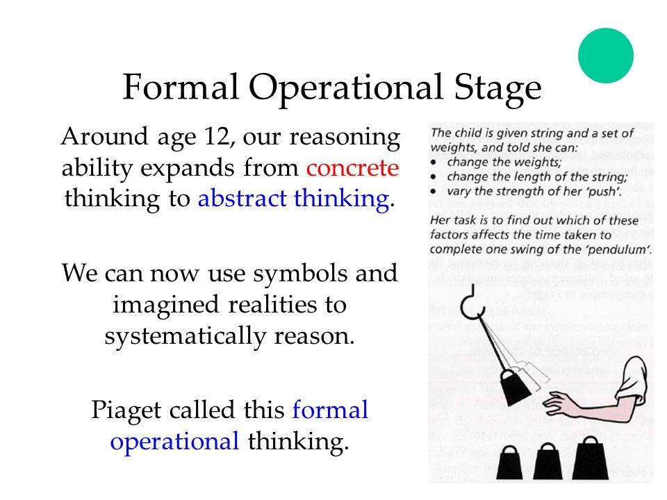 formal operational reasoning