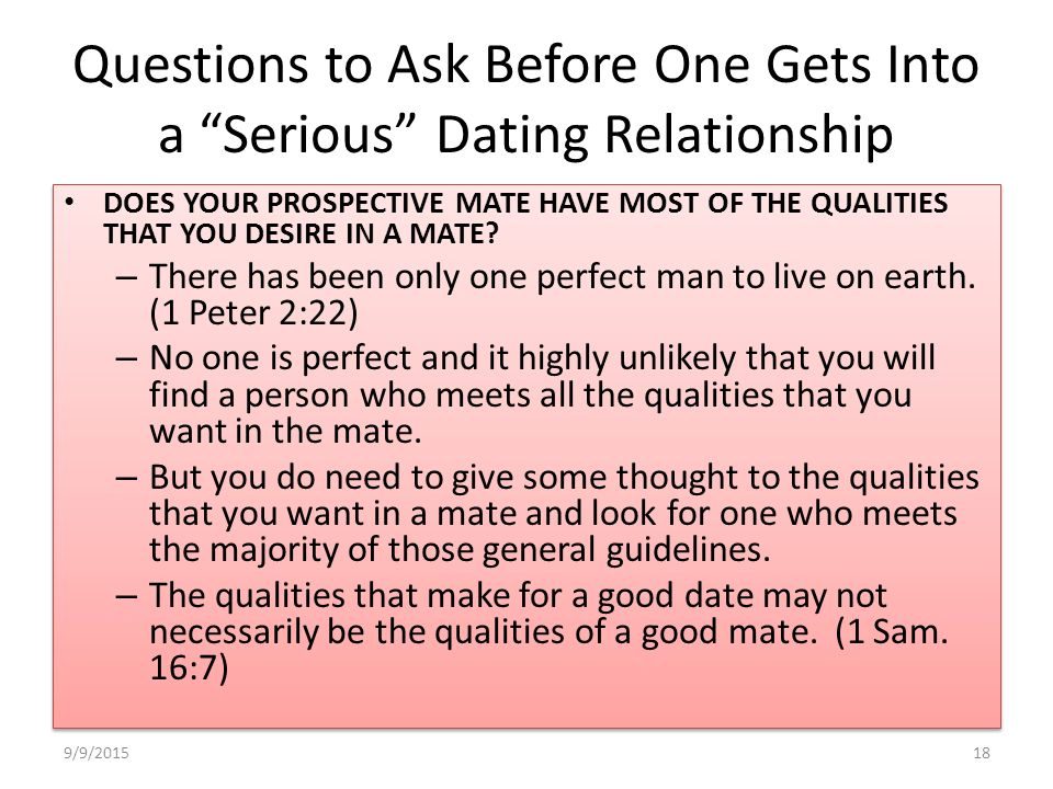 ask a dating question