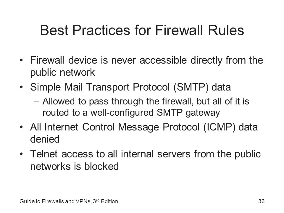 Guide to Firewalls and VPNs, 3rd Edition - ppt video online download