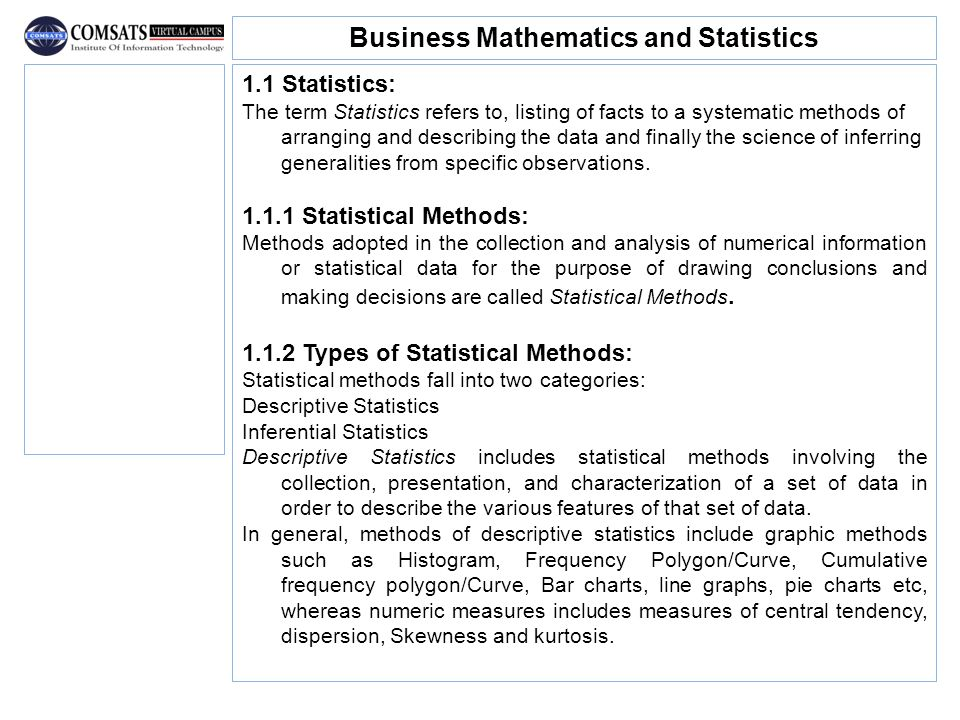 Business Mathematics and Statistics - ppt video online download