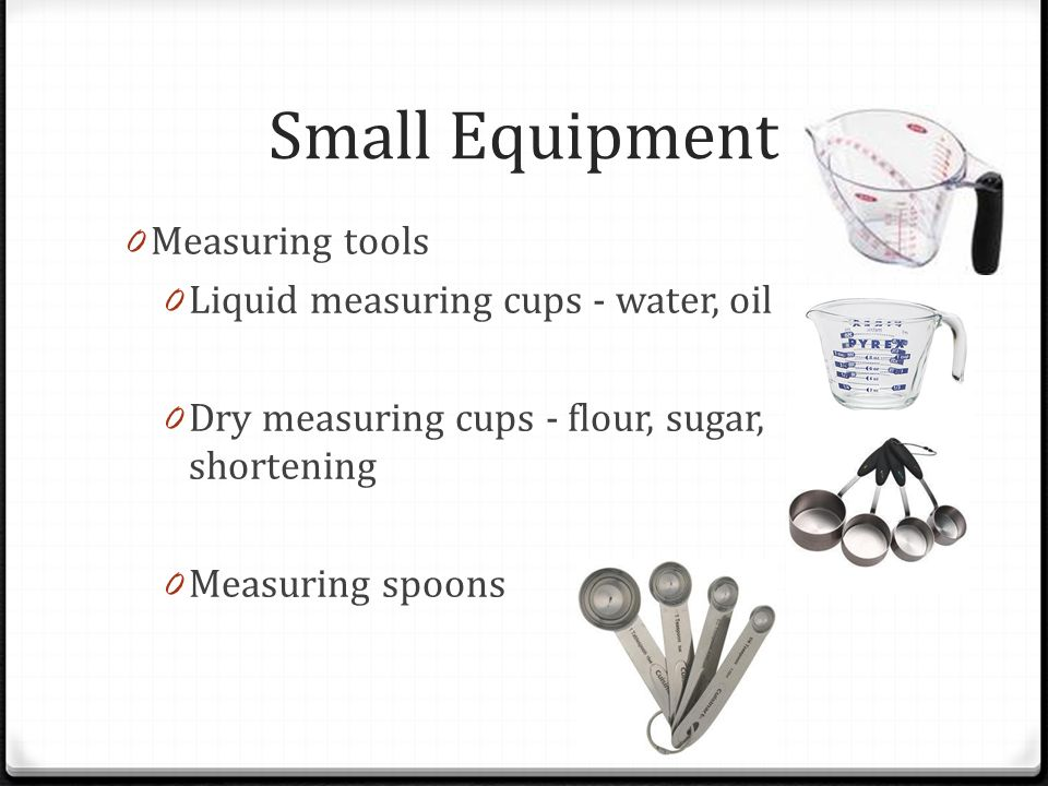 Small Equipment Measuring Tools Liquid Cups Water Oil