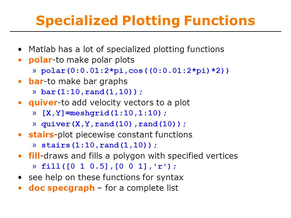 6 094 Introduction to programming in MATLAB - ppt download