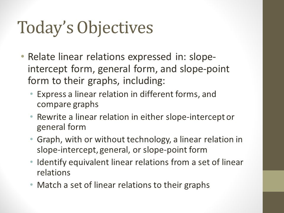 65 Slope Point Form Of The Equation For A Linear Function Ppt