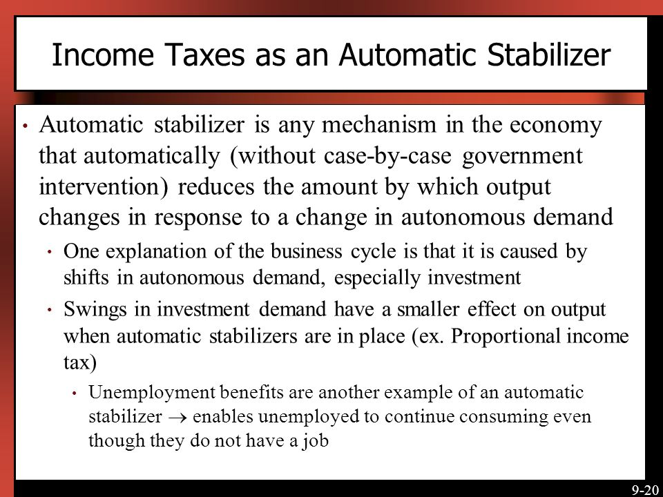 Income Taxes as an Automatic Stabilizer