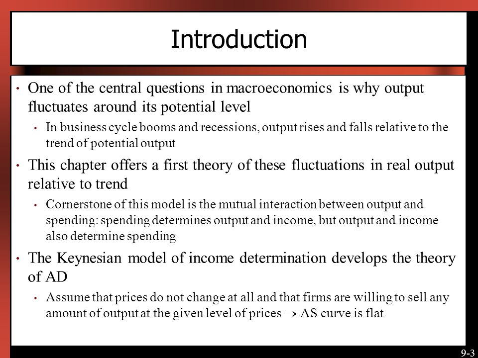 Introduction One of the central questions in macroeconomics is why output fluctuates around its potential level.