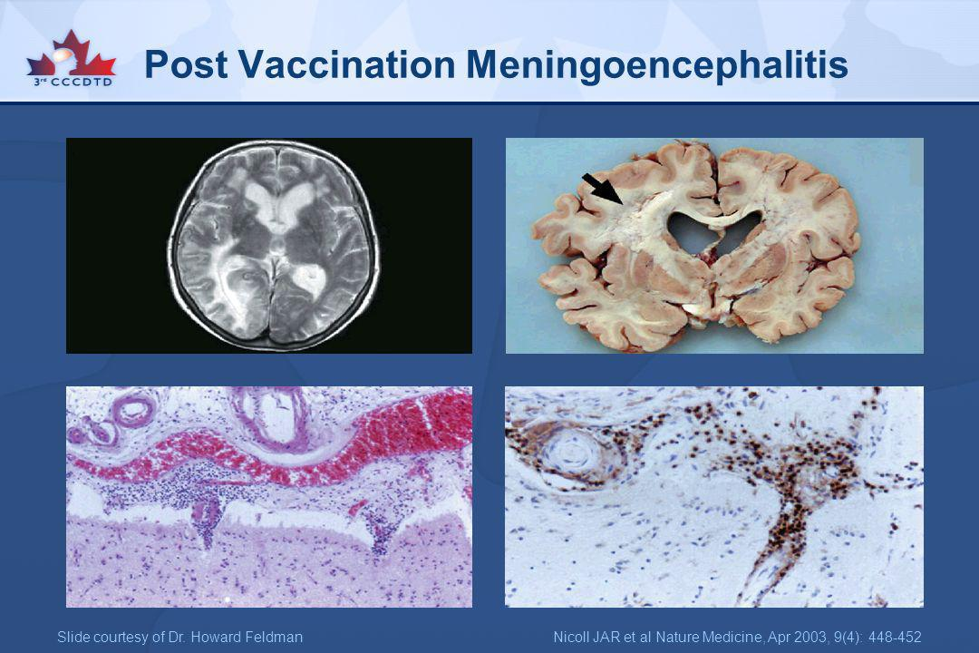 Post Vaccination Meningoencephalitis