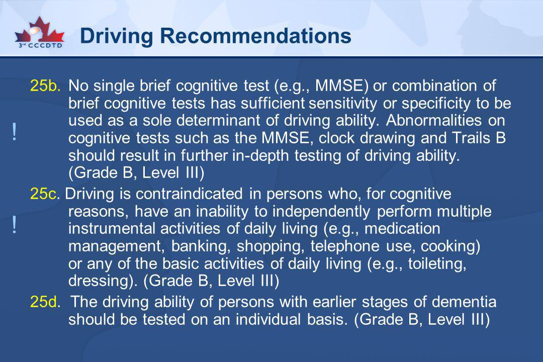 Driving Recommendations