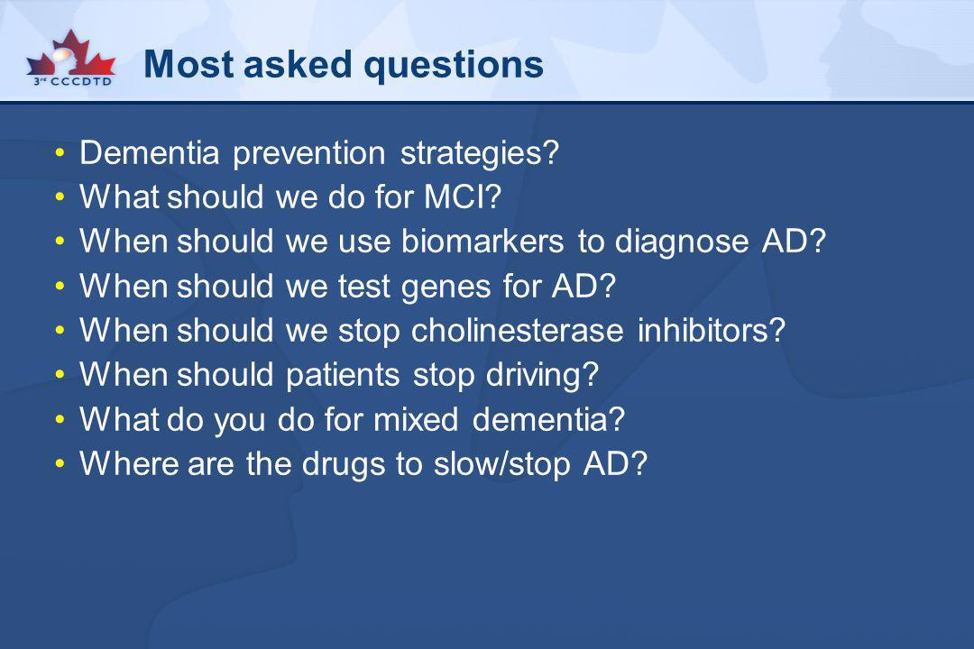 Most asked questions Dementia prevention strategies