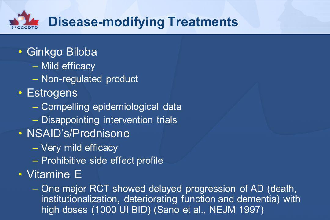 Disease-modifying Treatments