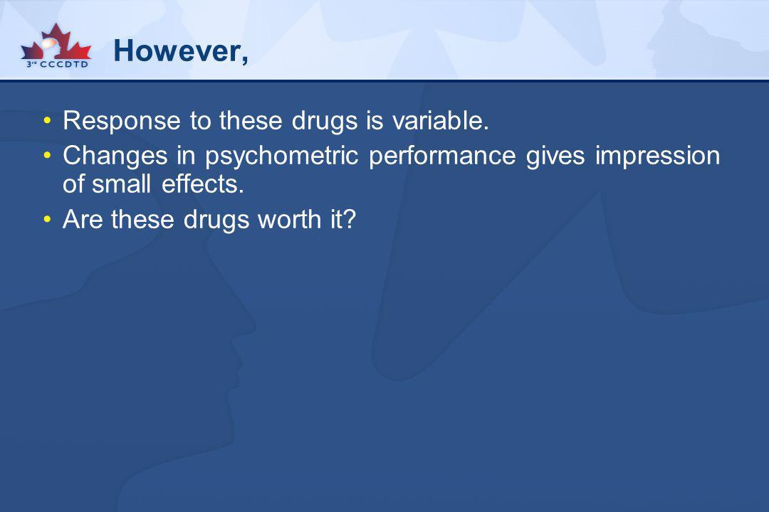 However, Response to these drugs is variable.