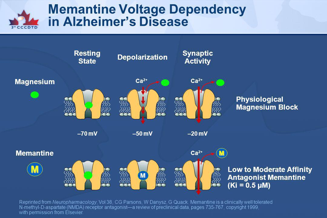Memantine Voltage Dependency in Alzheimer's Disease