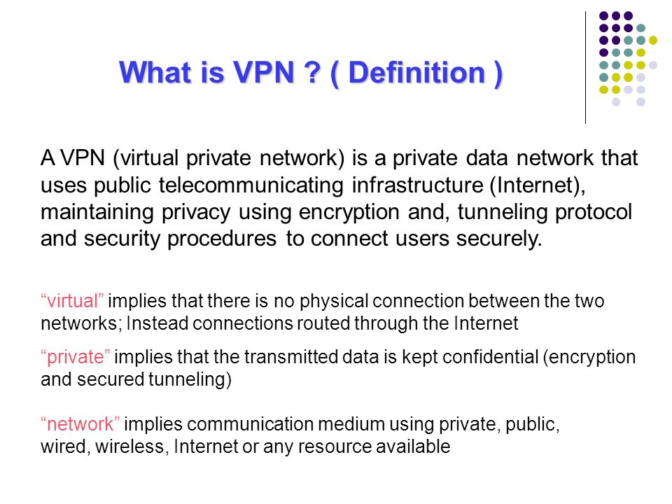 Vpn Virtual Private Networks Ppt Video Online Download