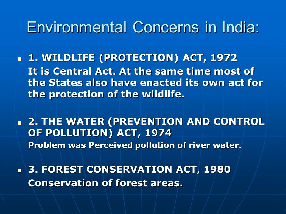 Environmental Concerns in India: