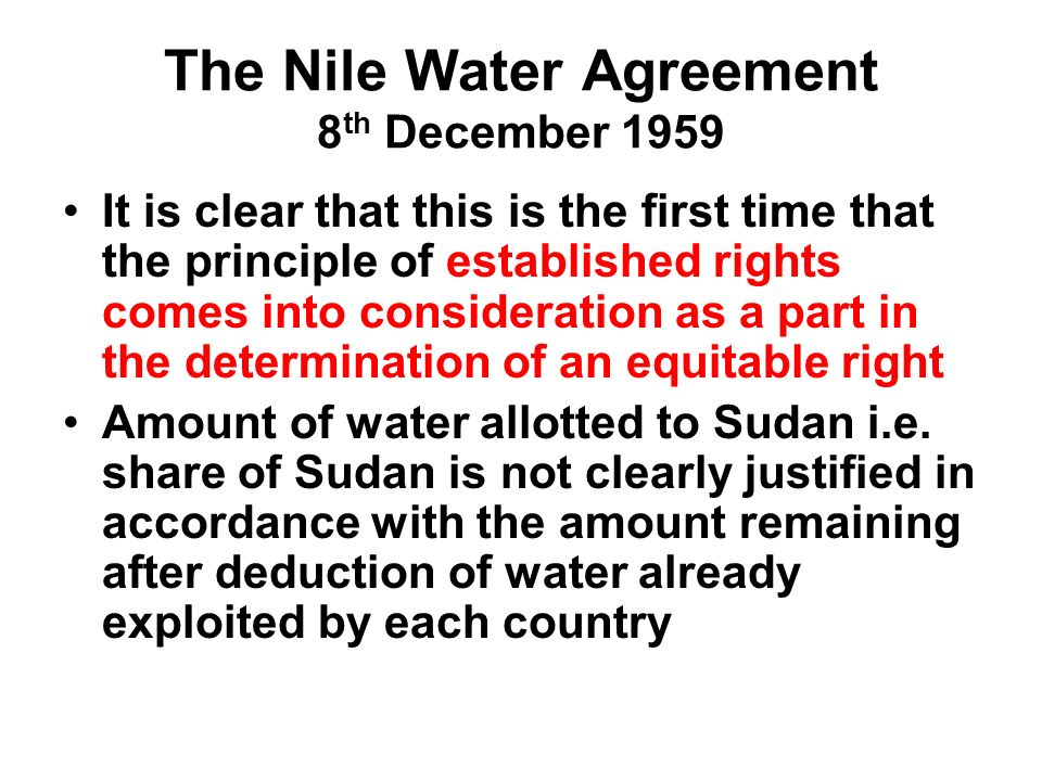 The Utilization Of The Nile Waters A Shift From Position To