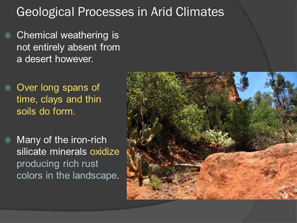 Geological Processes In Arid Climates